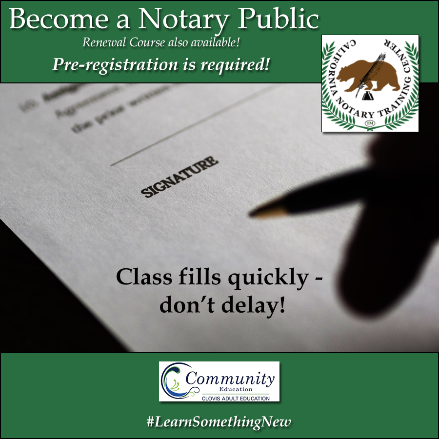 become a notary public full course and renewal available clovis